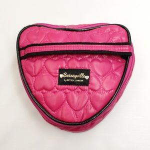 💖 BETSEY JOHNSON 💖 Heart-Shaped Makeup Bag